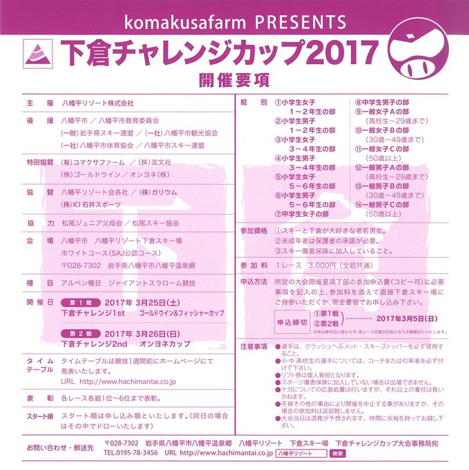 下倉チャレンジカップ2017