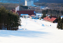 2つのスキー場とホテル