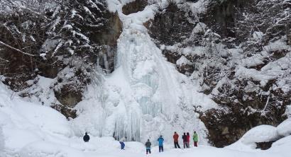 スノーシューで行く七滝氷瀑